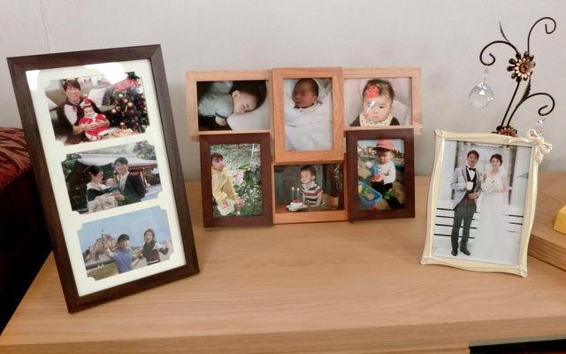 吉良奈津子 家族写真
