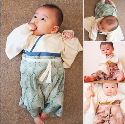 【お食い初め】赤ちゃんの服装は着物風カバーオールがオススメです☆