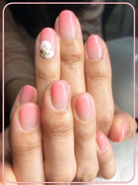3月の春ネイルは、やっぱり桜デザイン☆大人シンプル・オフィスネイル